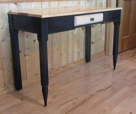 Custom Made Pencil Foot Wrting Desk