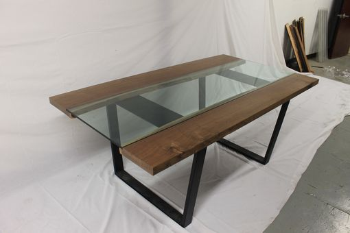 Custom Made Inverted Live Edge Dining Table