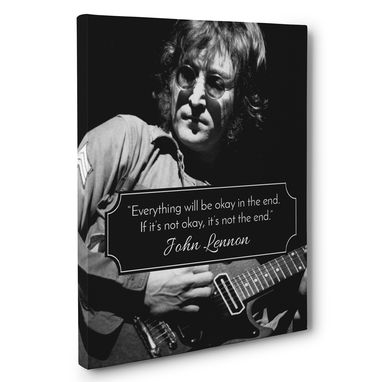 Custom Made John Lennon Not The End Motivation Quote Canvas Wall Art