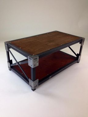 Custom Made Wrought Iron  Industrial Cocktail Table