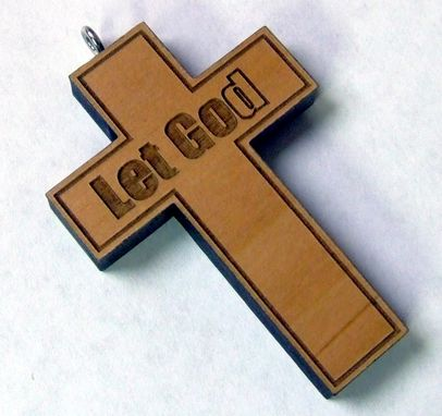 Custom Made Customize Engraved Wood Necklace Cross