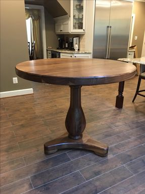Custom Made Round Pedestal Table - Solid Wood