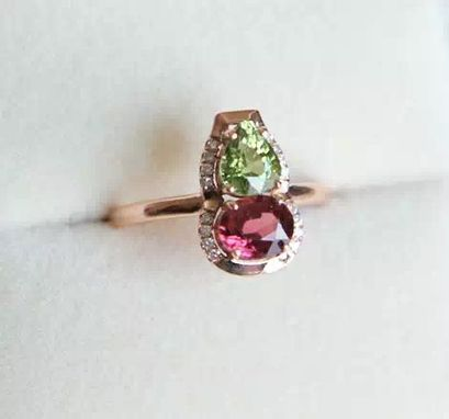 Custom Made 1.91 Carat Tourmaline Ring In 14k Rose Gold