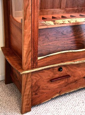 Custom Made Mesquite & Cherry Gun Cabinet