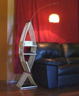 Custom Made Fish Shape Four Shelf Floor Lamp