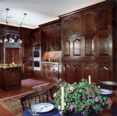Custom Made Formal Wall Paneling & Door - Kitchen