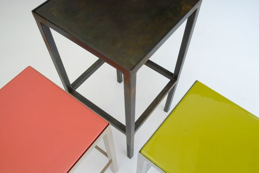Custom Made End Tables, Composite Tops, Steel Base
