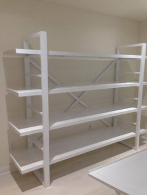 Custom Made White Shelving Unit