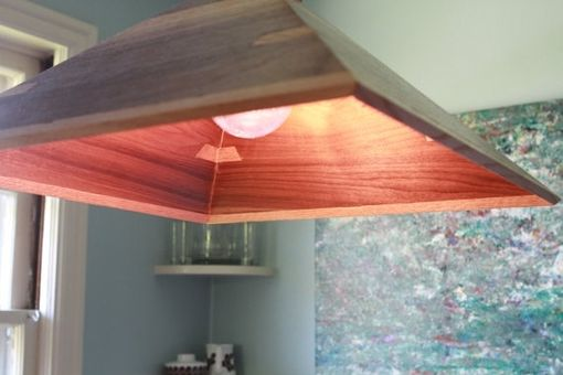 Custom Made Wood Pendant Lamp