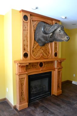 Custom Made Art Nouveau Fireplace Surround