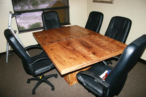 Custom Made The Crockett 4 X 6 Burl Conference Table