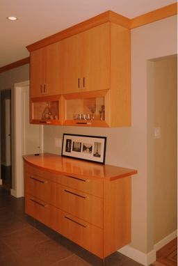 Custom Made Douglas Fir Kitchen  Credenza