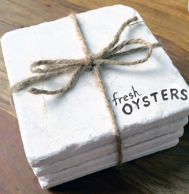 Custom Made Fresh Oysters - Stone Coasters (Set Of 4)