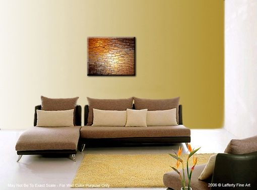 Custom Made Abstract Metallic Reflective Original Painting Contemporary Impasto Gold Bronze