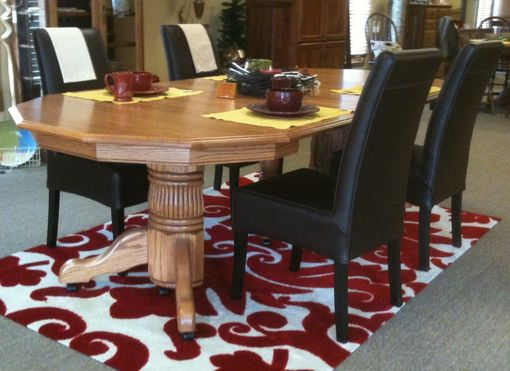 Custom Made Reeded Pedestal Dining Room Table