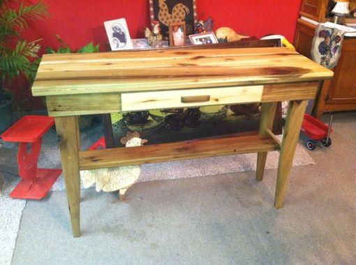 Custom Made Reclaimed Wood Sofa Table