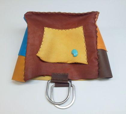 Custom Made Large Leather Tote Handbag