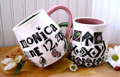 Custom Made Personalized Custom Mug Set - Bride, Groom, Mr & Mrs