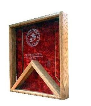 Custom Made Retirement Flag Case Marine Corp