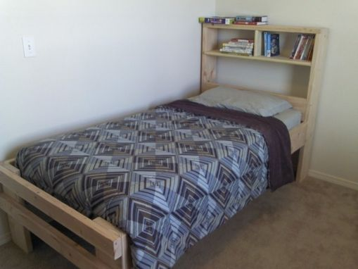 Custom Made Twin Beds With Shelving