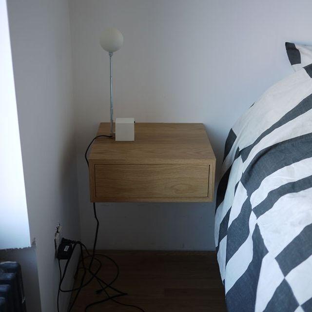 Floating Drawer hand made bedside floating drawerglessboards | custommade
