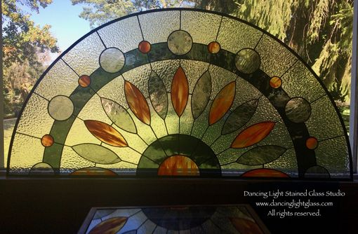 Hand Made Half Round Sister Stained Glass Transoms By Dancing Light