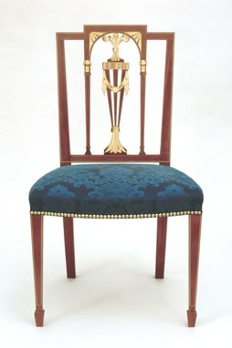 Custom Made Inlayed Square Back Chair