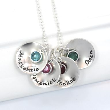 Custom Made Personalized Mother Of Four Grandmother Necklace