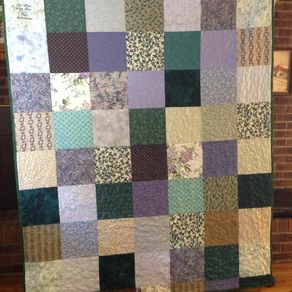 Custom quilts personalized quilts custommade vintage cotton fabric blocked quilt by amanda witherspoon gumiabroncs Gallery
