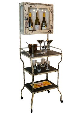 Custom Made Vintage Medicine Cabinet Bar