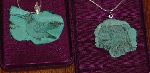 Custom Made Hand Carved Turquoise Jewelry