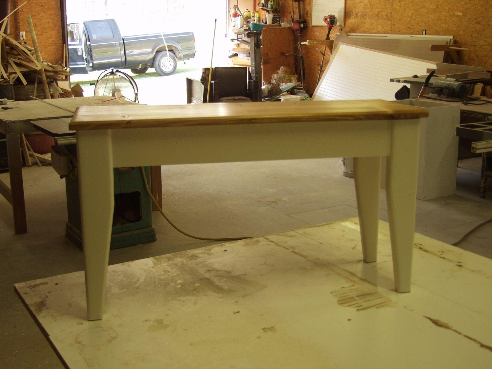 Custom Made Small Pine Side Table