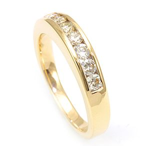 wg natural anniversary ring half semi dia band prong diamond u itm bands a eternity asscher cut