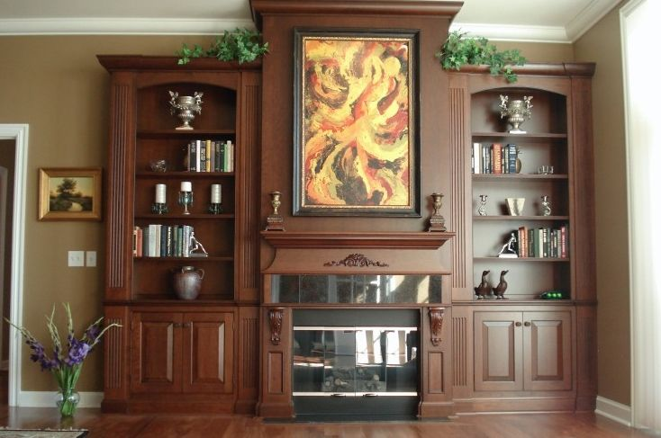 Handmade built in wall unit for living room by artisan woodworking for Custom built ins for living room