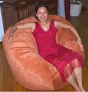 Custom Made Custom Washable Bean Bag Chairs: 52 Inch Wide (Regular Fill)