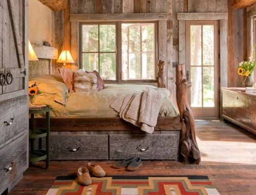 Custom Made Rustic Reclaimed Custom Bed