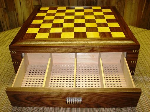 Custom Made Chess Board Humidor