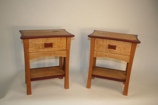 "Custom Made ""Cherries"" Zen Inspired Nightstands"