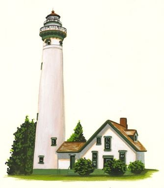 Custom Made Michigan's Presque Isle  Lighthouse