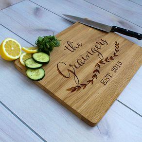 Personalized Cutting Board Engraved Custom Wedding Gift Cb Wo Graingers