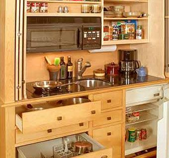 Handmade Armoire Mini-Kitchen by Yestertec Design Company ...