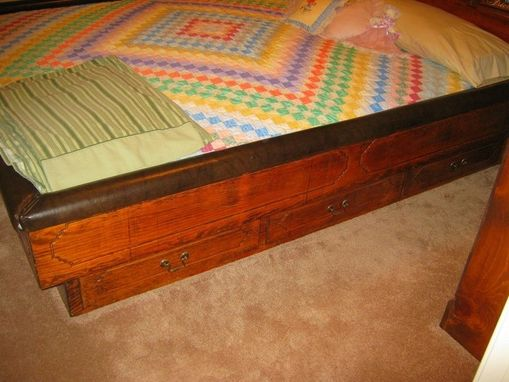 Custom Made Pine Bedroom Suite (Chest, Dresser, Waterbed Frame W/ Storage)