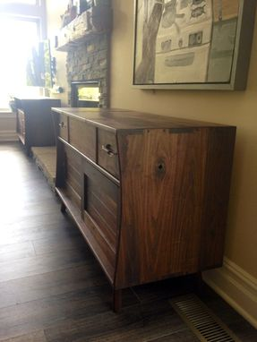 Custom Made Black Walnut Mack & Lake Media Cabinet