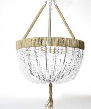 Custom Made Renee - Open Clear Handmade Blown Glass Beaded Chandelier