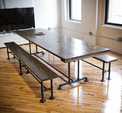 Custom Made Industrial Style Conference Table