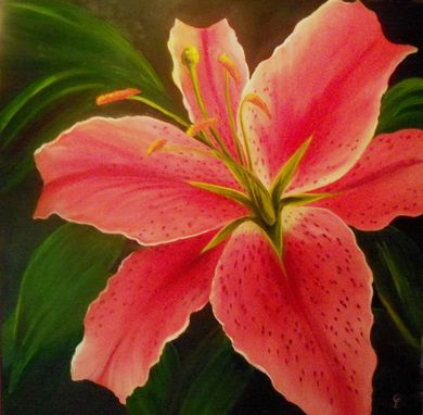 Custom Made Floral Art In Oil