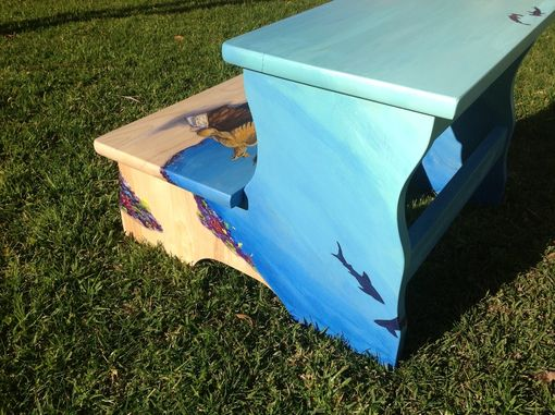 Custom Made Hand Painted Shipwreck Theme Stepstool
