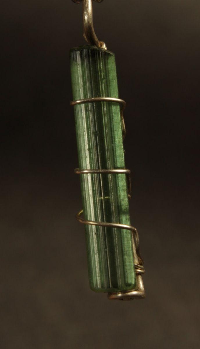 Buy A Custom Green Tourmaline Crystal Pendant Made To