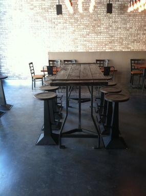Custom Made Bar Top Tables With Stools