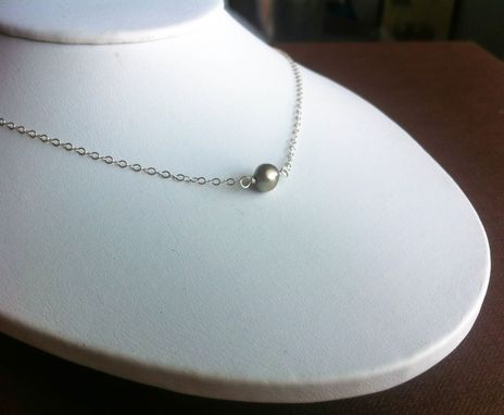 Custom Made Light Silver Gray Freshwater Pearl Necklace